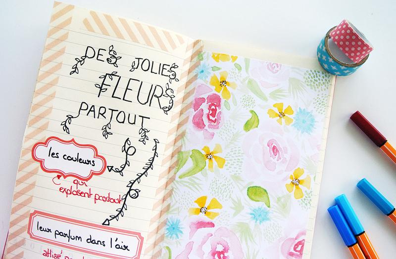 art journal - traveler's notebook - lettering - doodling - masking tape
