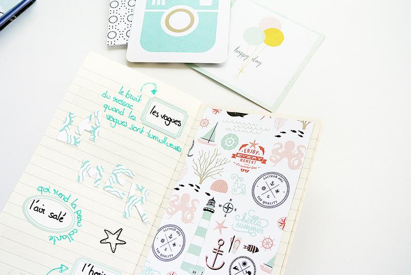 art journal - traveler's notebook - doodling - lettering