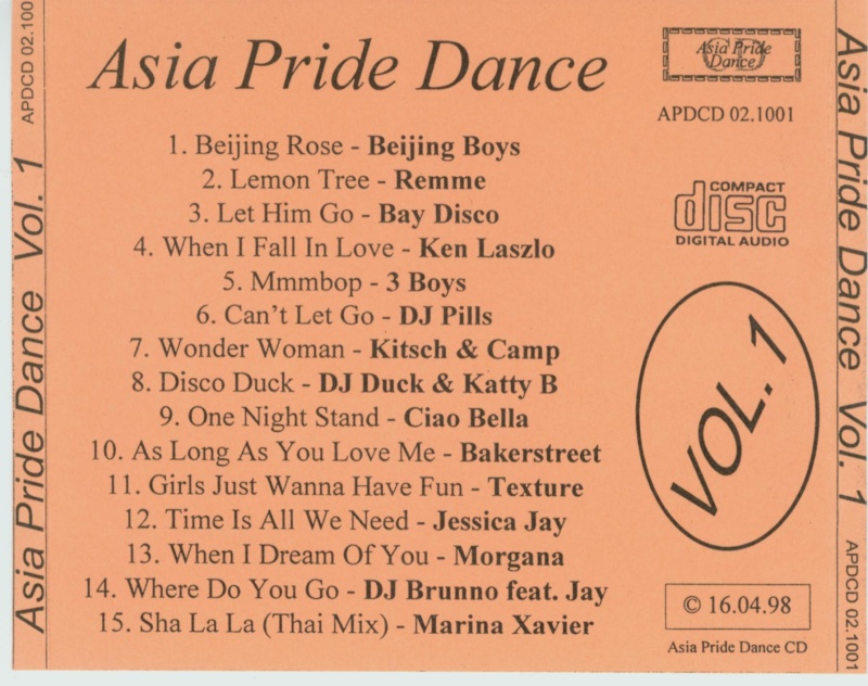 Asia Pride Dance Vol. 1