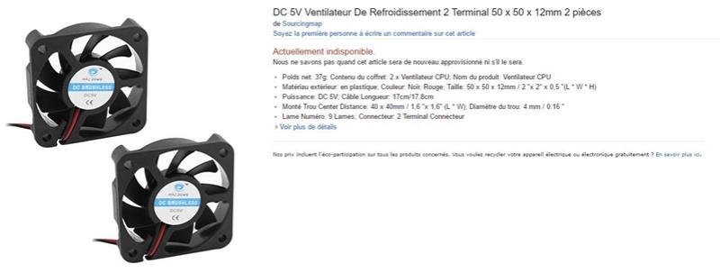 Ventilateur 5Volts
