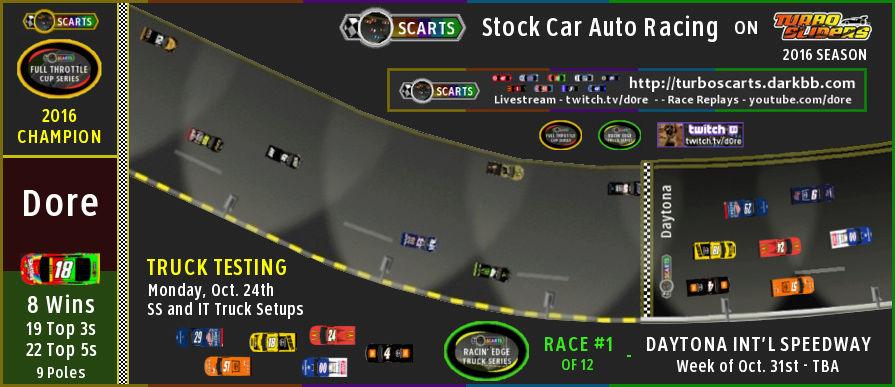 SCARTS - Stock Car Auto Racing on Turbo Sliders - 2016 Season