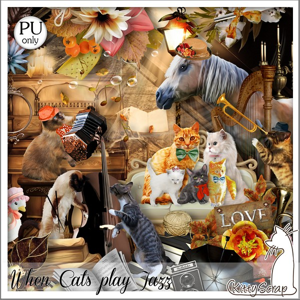 When cats play jazz de Kittyscrap dans Septembre kittys14