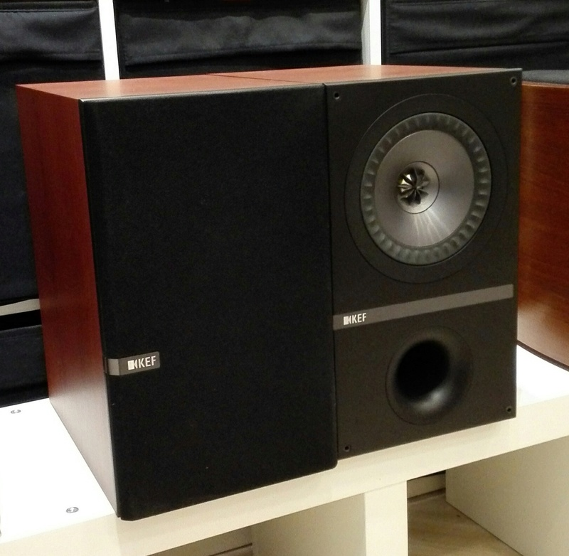 kef q300. with an intriguing, thoughtful aesthetics at such affordable price.the kef q300 are great speakers especially for bass quality and dynamics\ kef