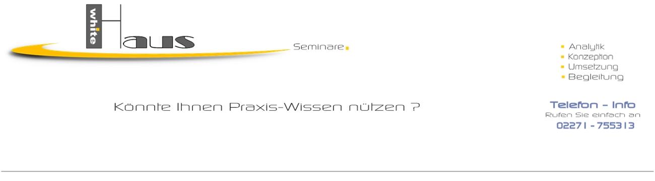 white Haus Seminare