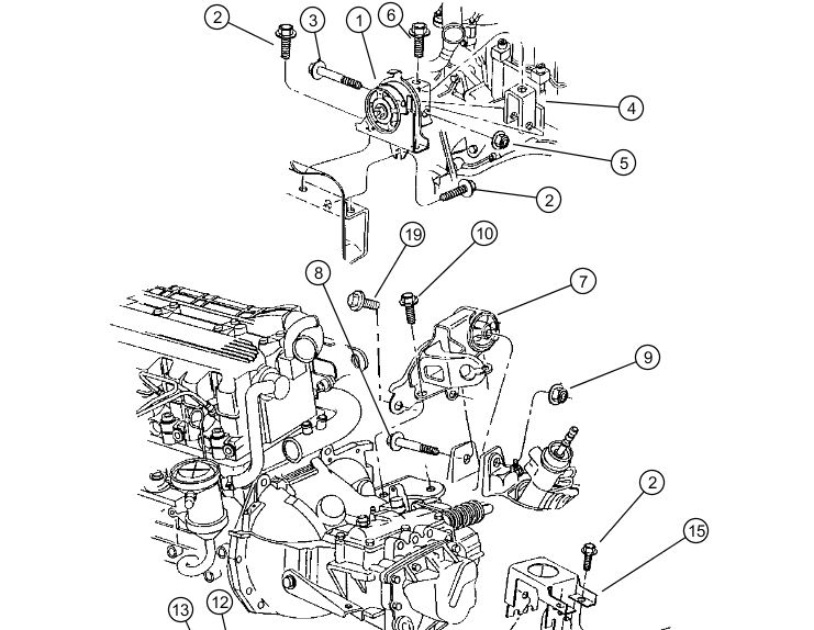 recherche supports moteur pour grand voyageur 2 5td de 1999
