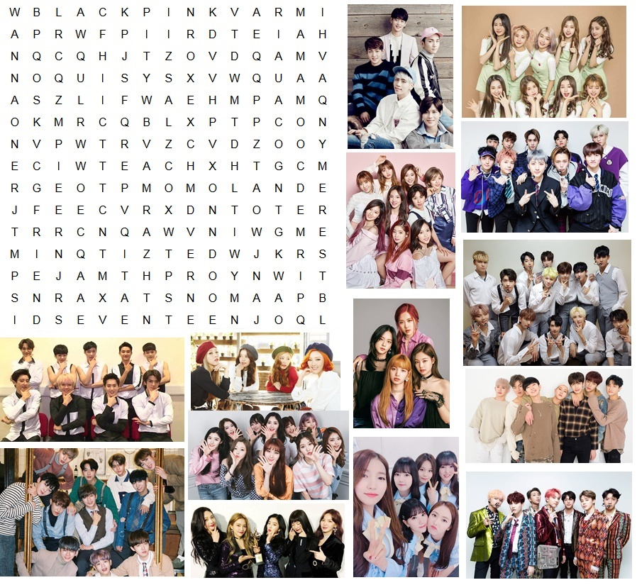 Word Search Puzzle Kpop Groups Quiz By Sl Kpop136